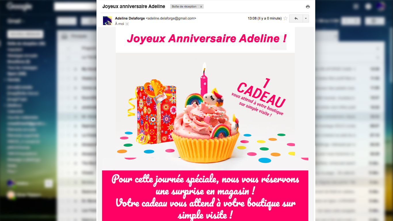 marketing omnicanal : scénario automatisé anniversaire pylones