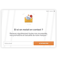 widget abonnement newsletter acquisition client ecommerce