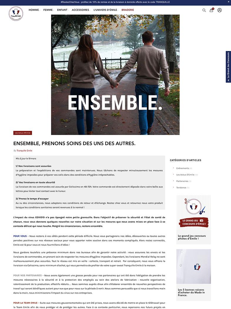 communication COVID-19 Tranquille Émile