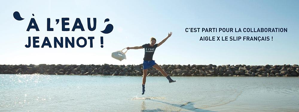 Opérations marketing co-brandées : le bel exemple du Slip Français x Aigle (avec des morceaux de poulpe dedans)