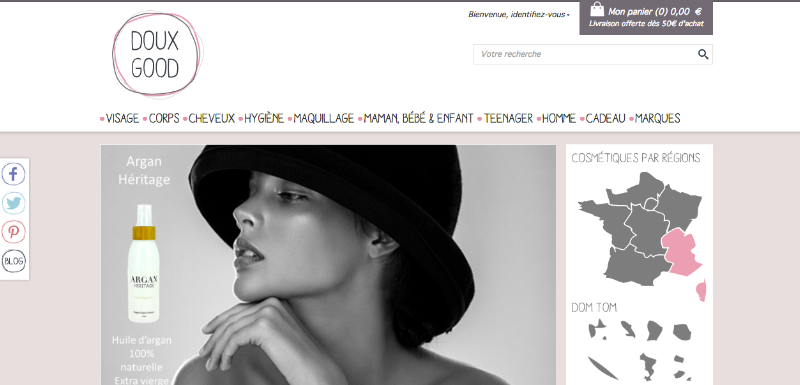 Site e-commerce Doux Good
