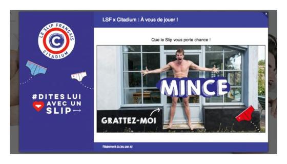 instant gagnant slip français