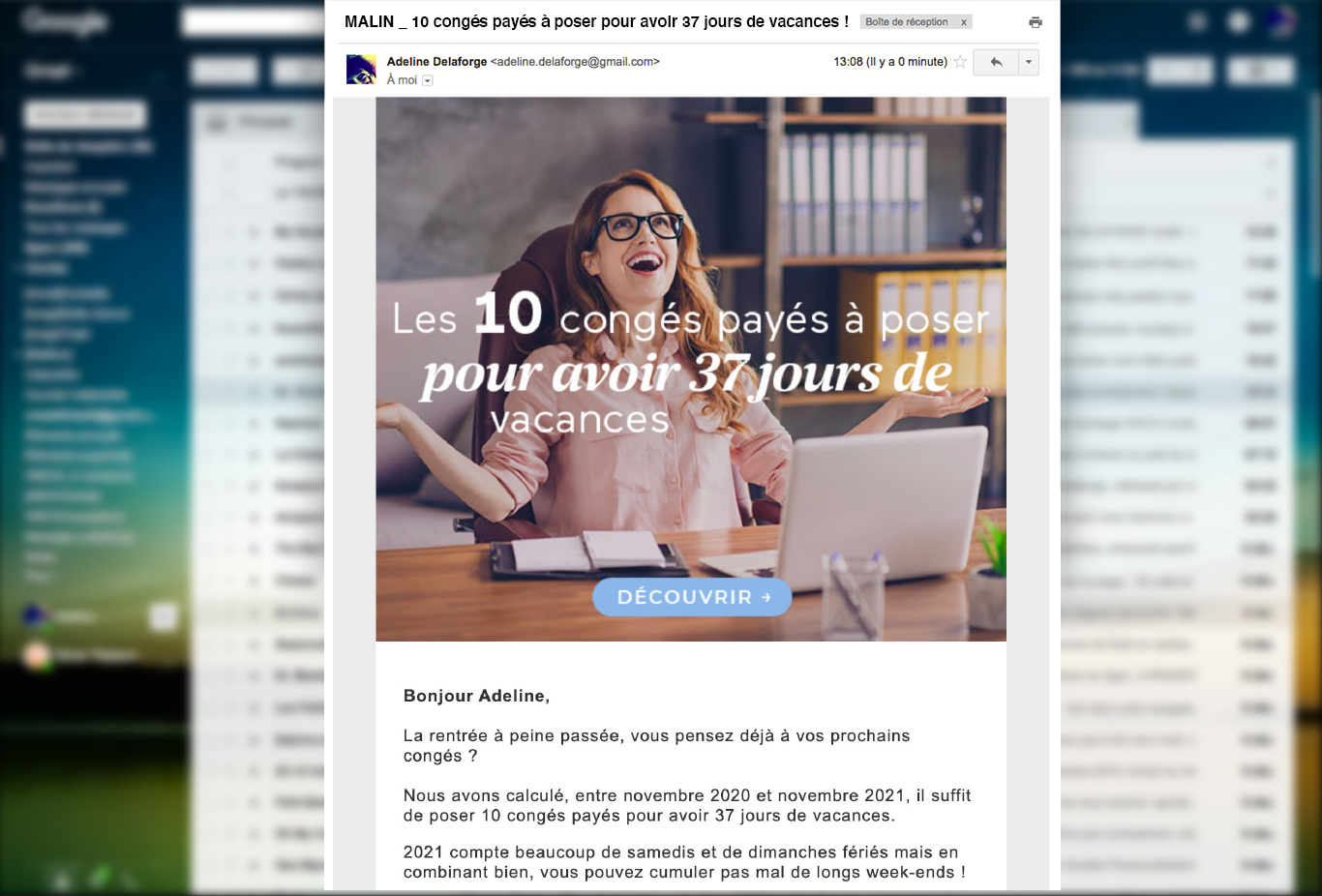 exemple newsletter efficace odalys vacances