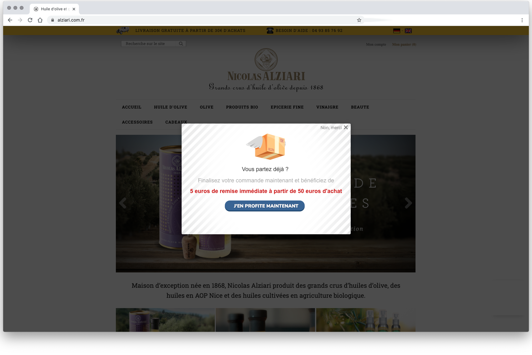 conversion popup rattrapage client site