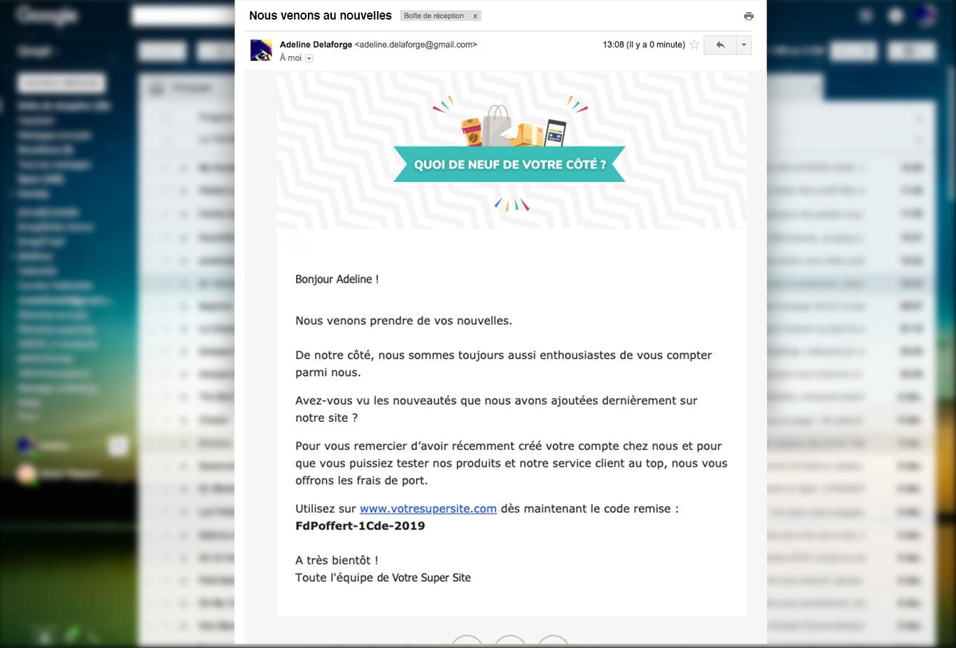 conversion mail incitation commande marketing automation