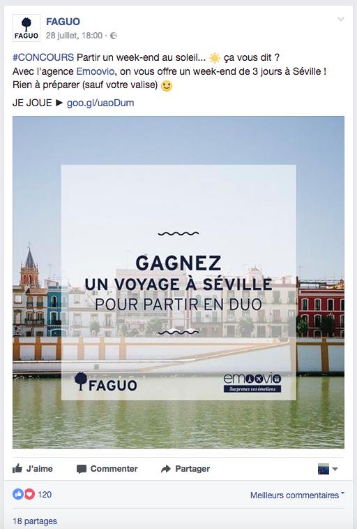 vote média faguo post facebook