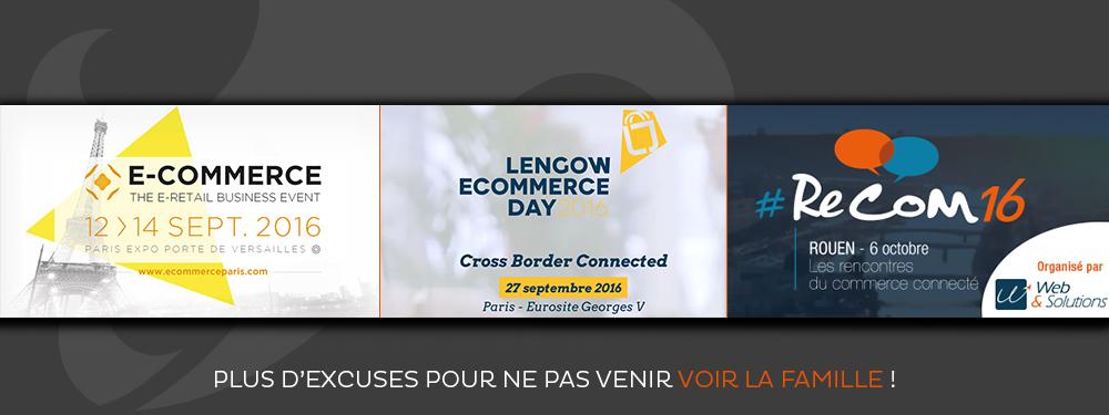 E-commerce Paris, Lengow Ecommerce Day et ReCom 2016 : trois bonnes raisons de se rencontrer !