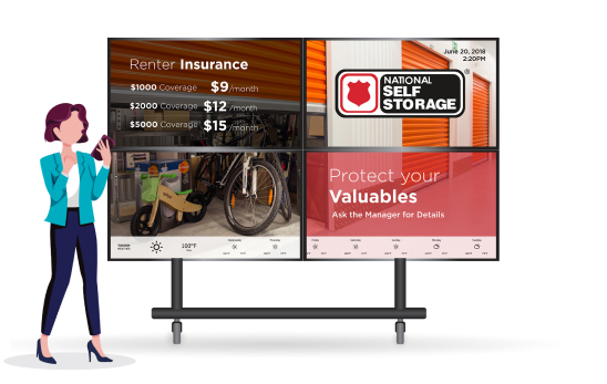 Example of Tenant Inc Digital Signage Display