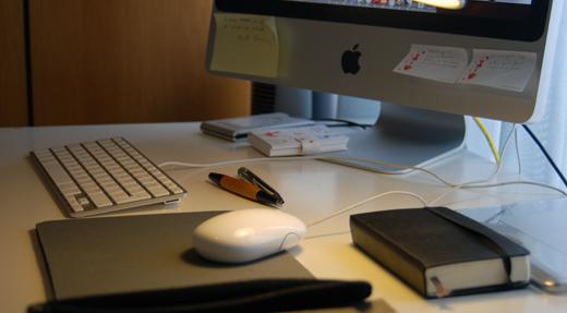 Trabajar desde casa: mi escritorio