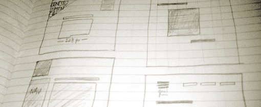Fragmento de cuaderno de bocetos