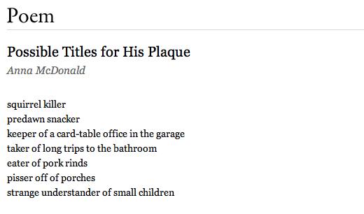 Fragmento de poema de la revista The Paris Review