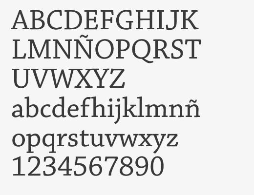 Alfabeto en Chaparral