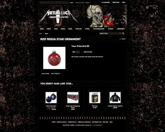 TIenda online de Metallica
