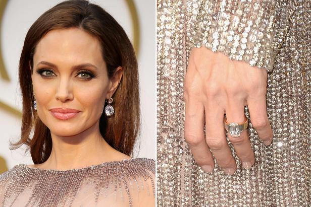 Angelina Jolie Emerald Cut Diamond