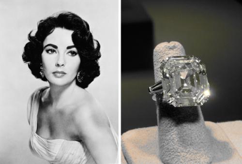 Elizabeth Taylor's cushion cut diamond