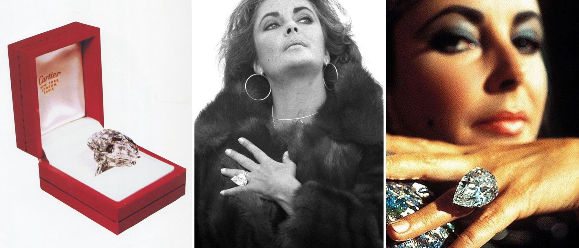 68-carat pear-shaped diamond Liz Taylor Burton