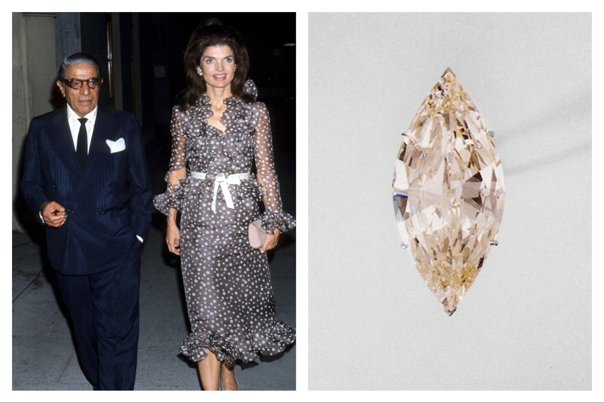 Jackie Kennedy Onassis  marquise-cut diamond Lesotho III engagement ring
