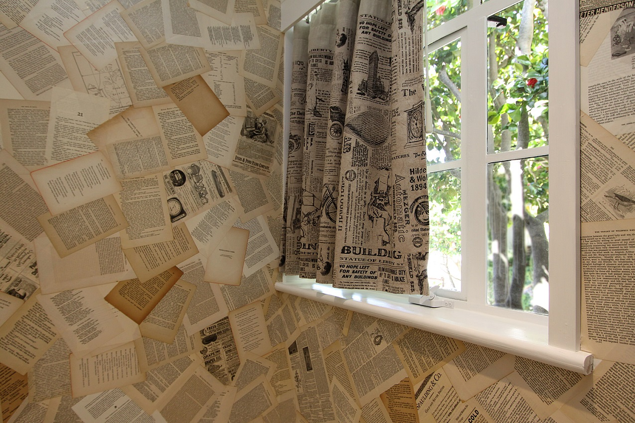 unique wallpaper made of pages
