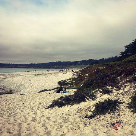 Carmel Beach with a cloudy sky