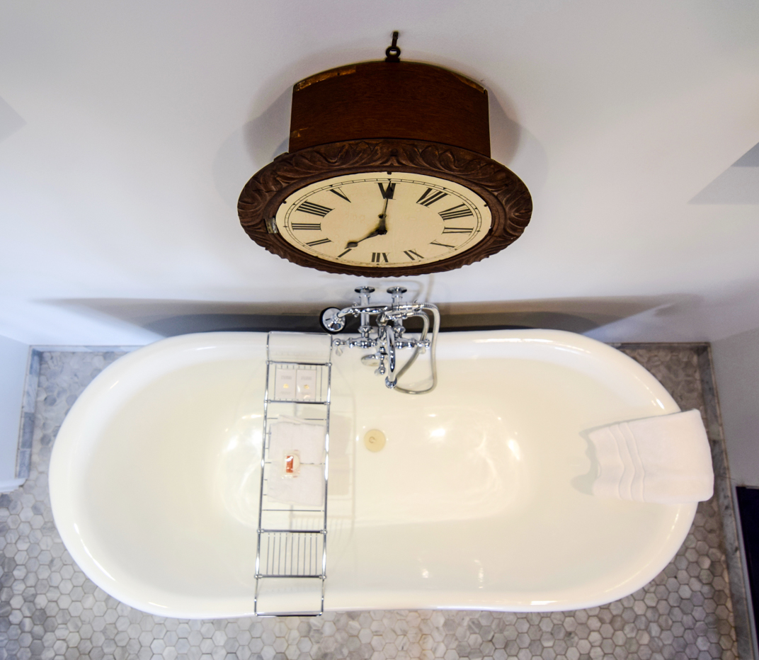 overhead look at vagabond house bathtub