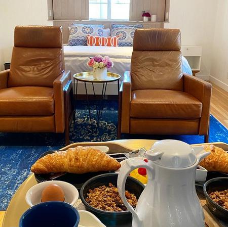 breakfast spread at the Vagabonds House Inn