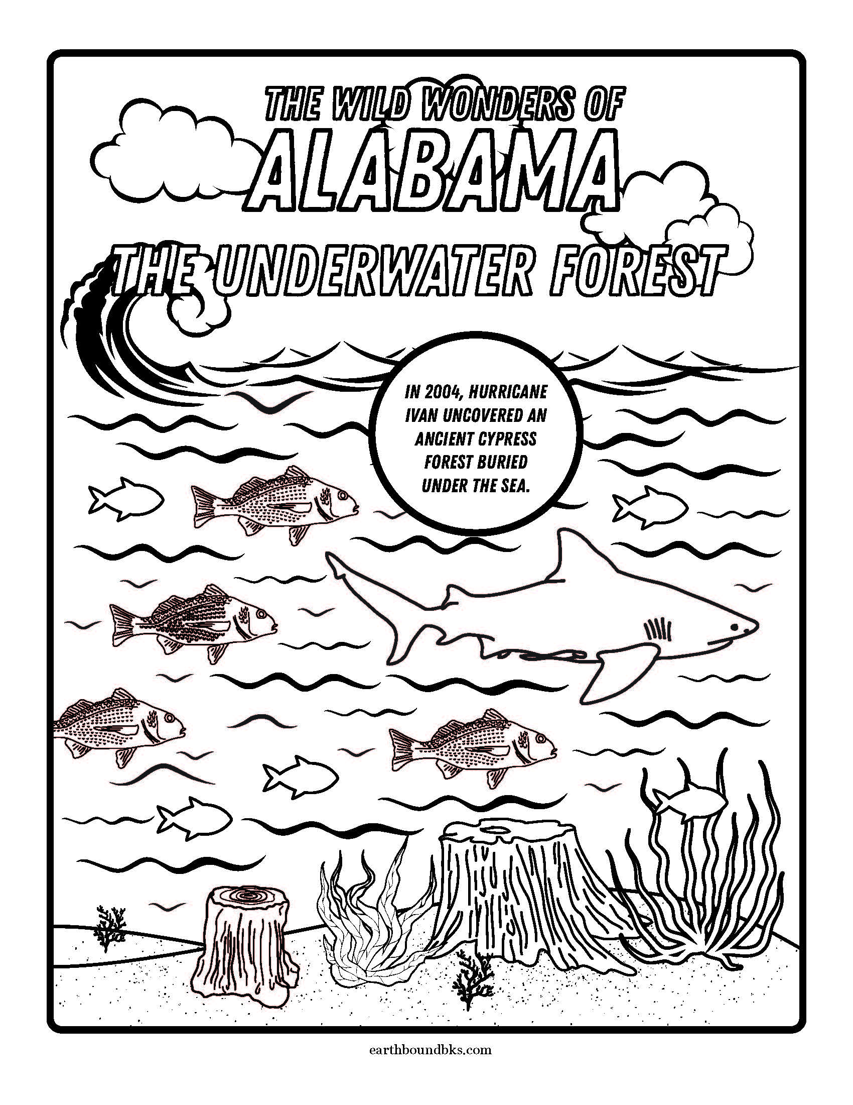 The Wild Wonders of Alabama Coloring Page
