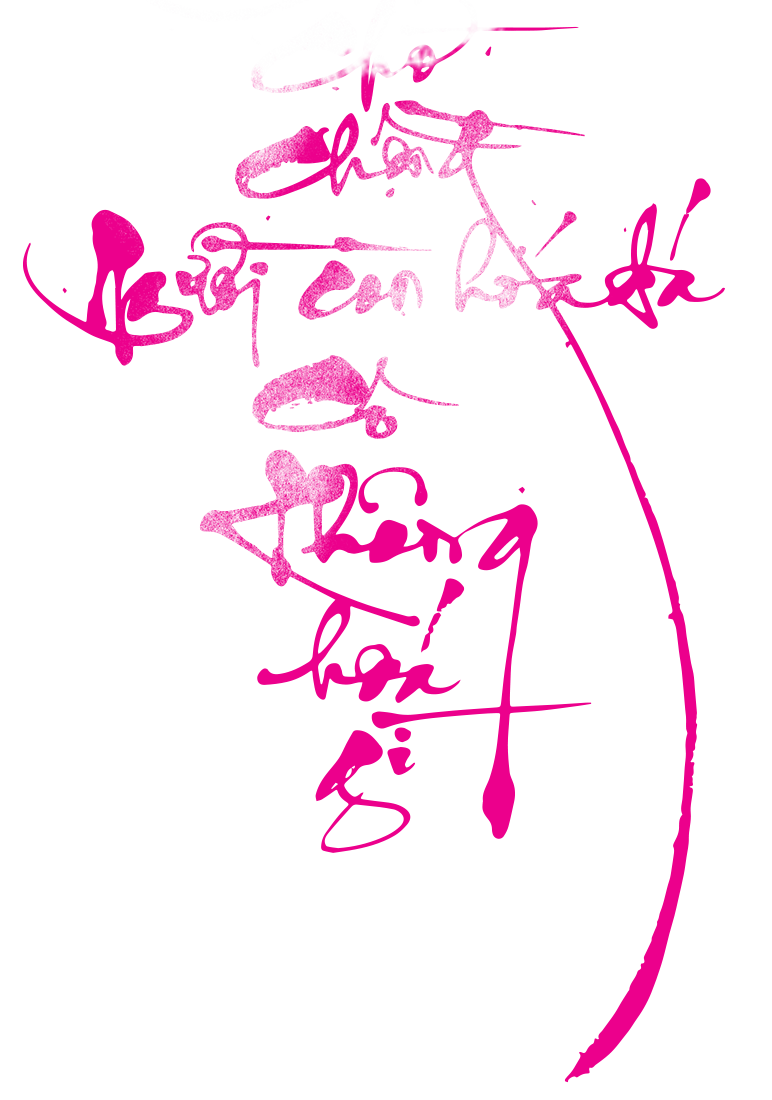 Abstract pink calligraphy