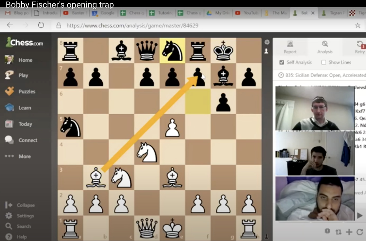 Bobby Fischer's Opening Trap