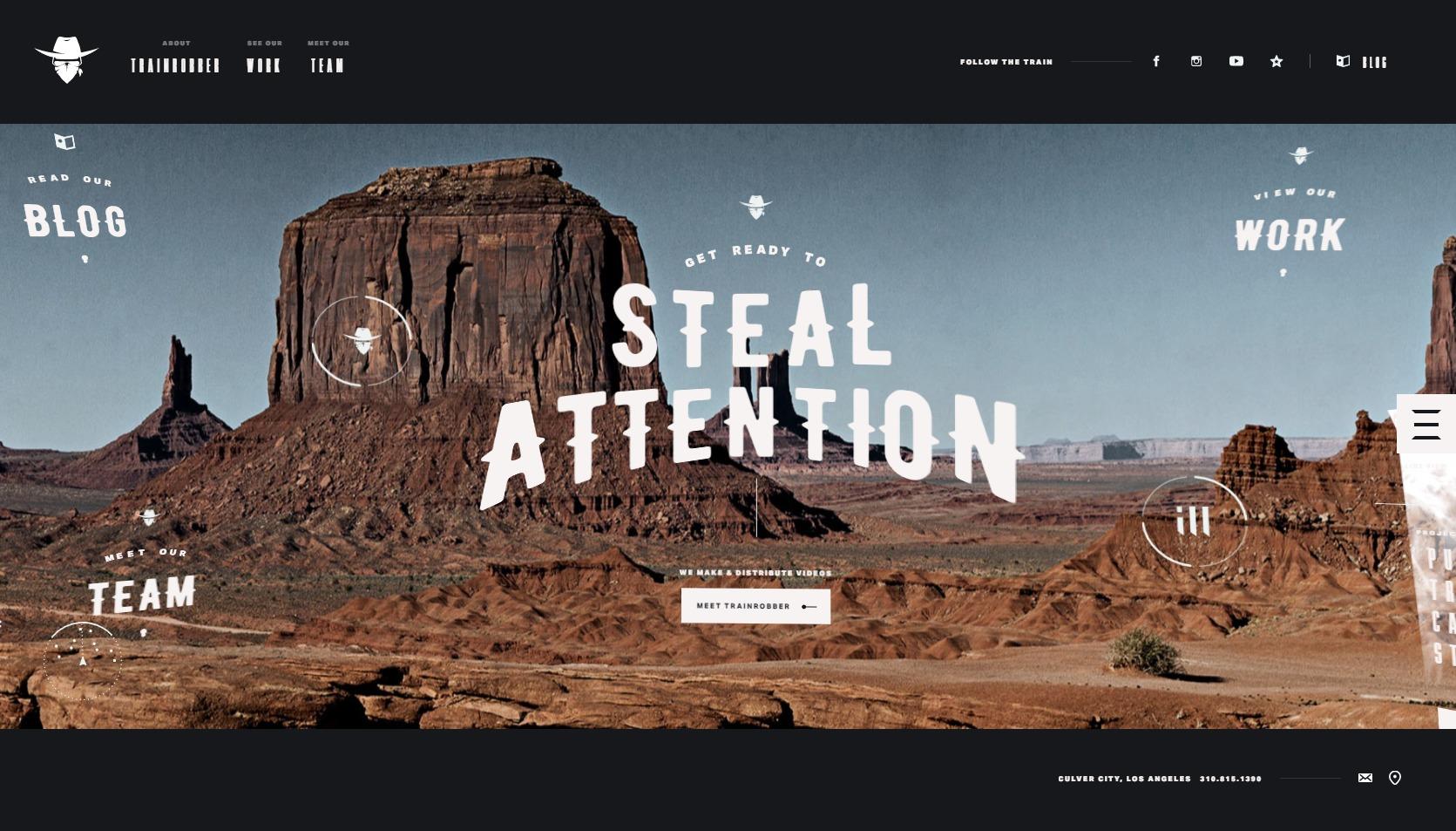Trainrobber VR Agency Website