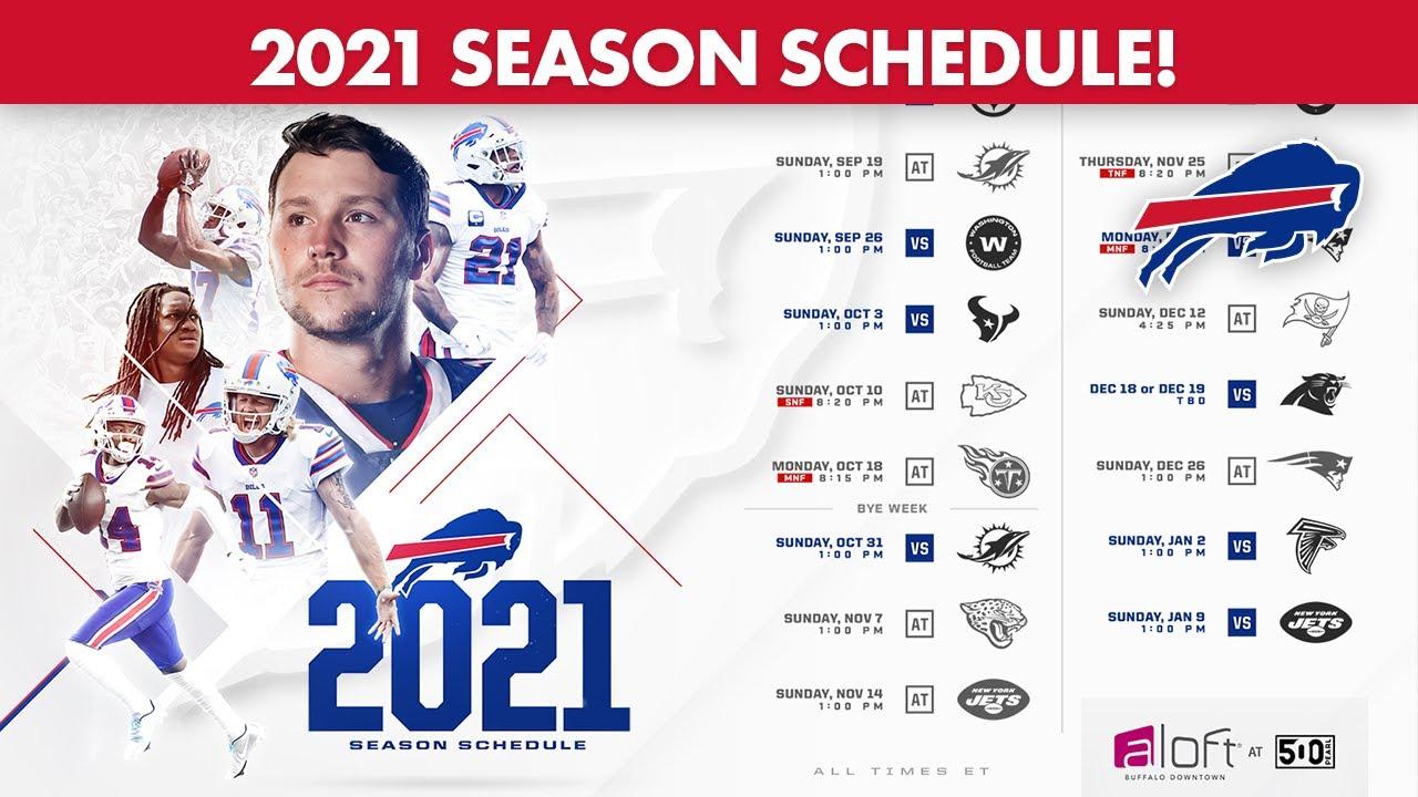 Buffalo Bills Announce 2021 Season Schedule!