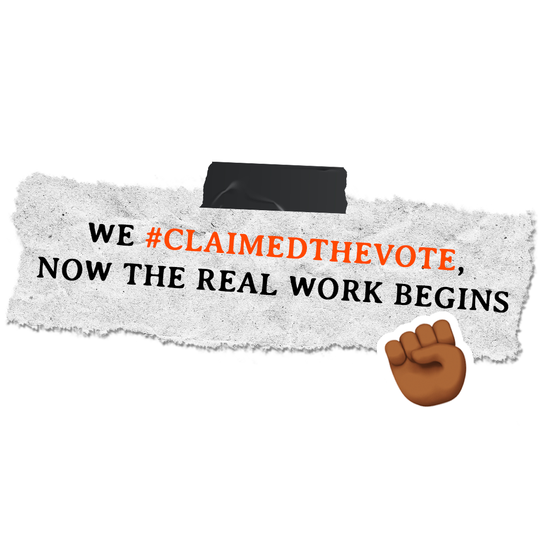 Banner for our Claim the Vote call to action