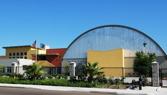 Photo of the San Diego Academy school campus