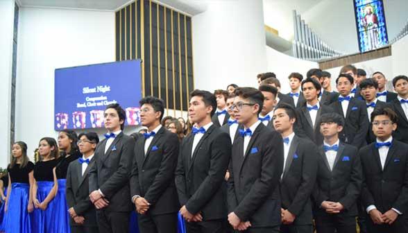 High school choir concert