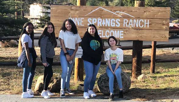 Students at Pine Springs Ranch for Junior High Bible CAmp