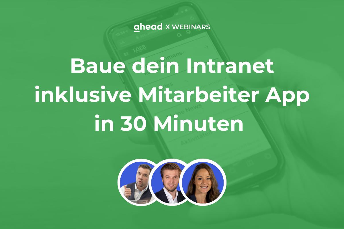 Baue dein Intranet inklusive Mitarbeiter App in 30 Minuten