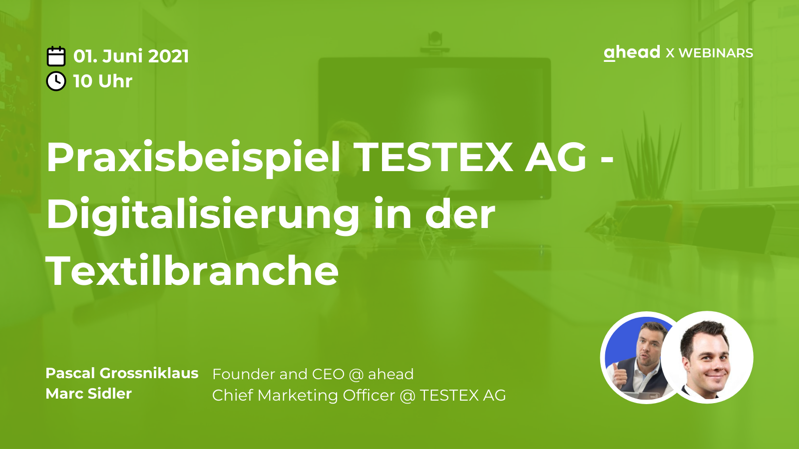 ahead Social Intranet Internal Communications Webinars TESTEX AG