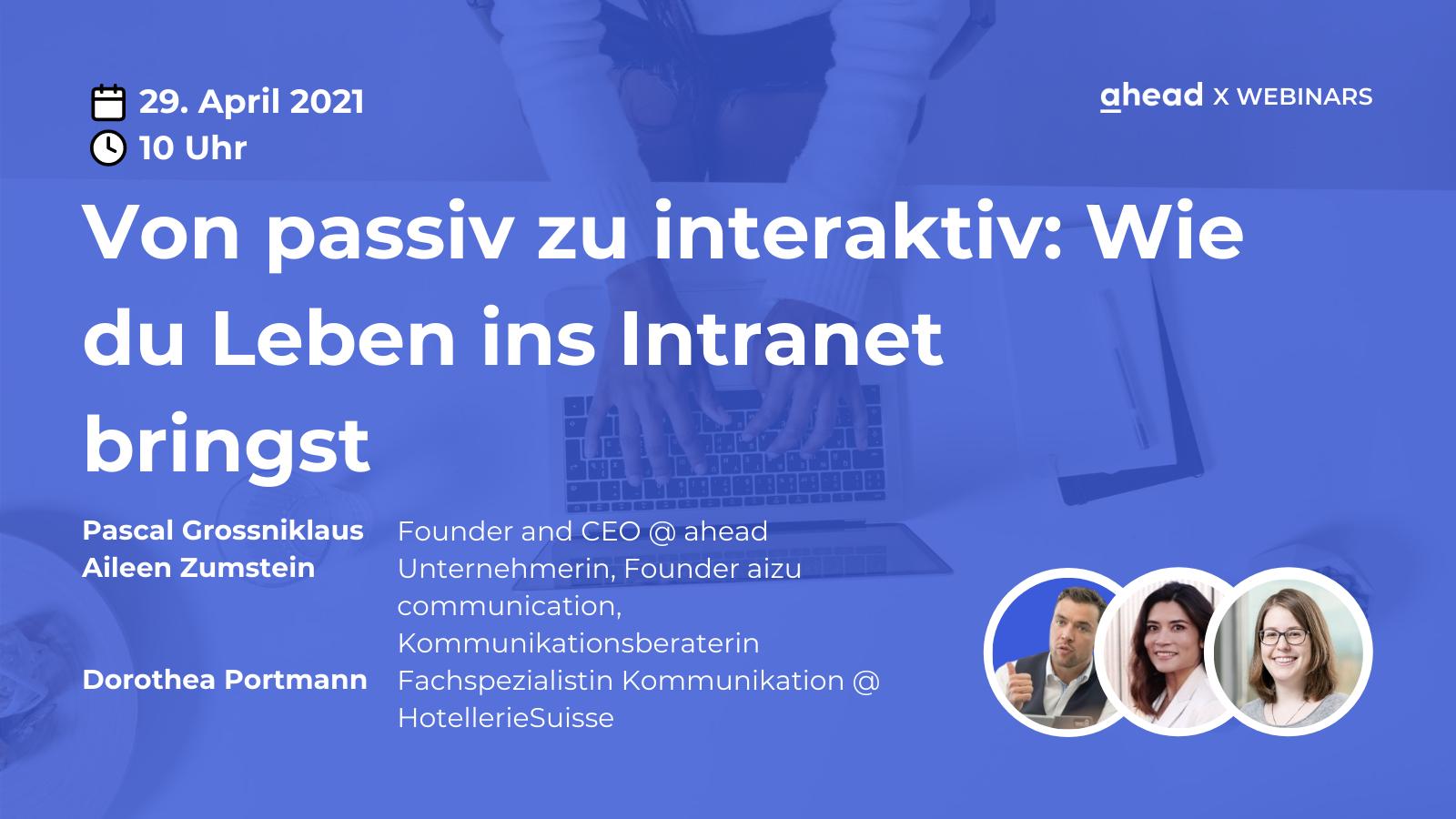 ahead Social Intranet Internal Communications Webinar HotellerieSuisse