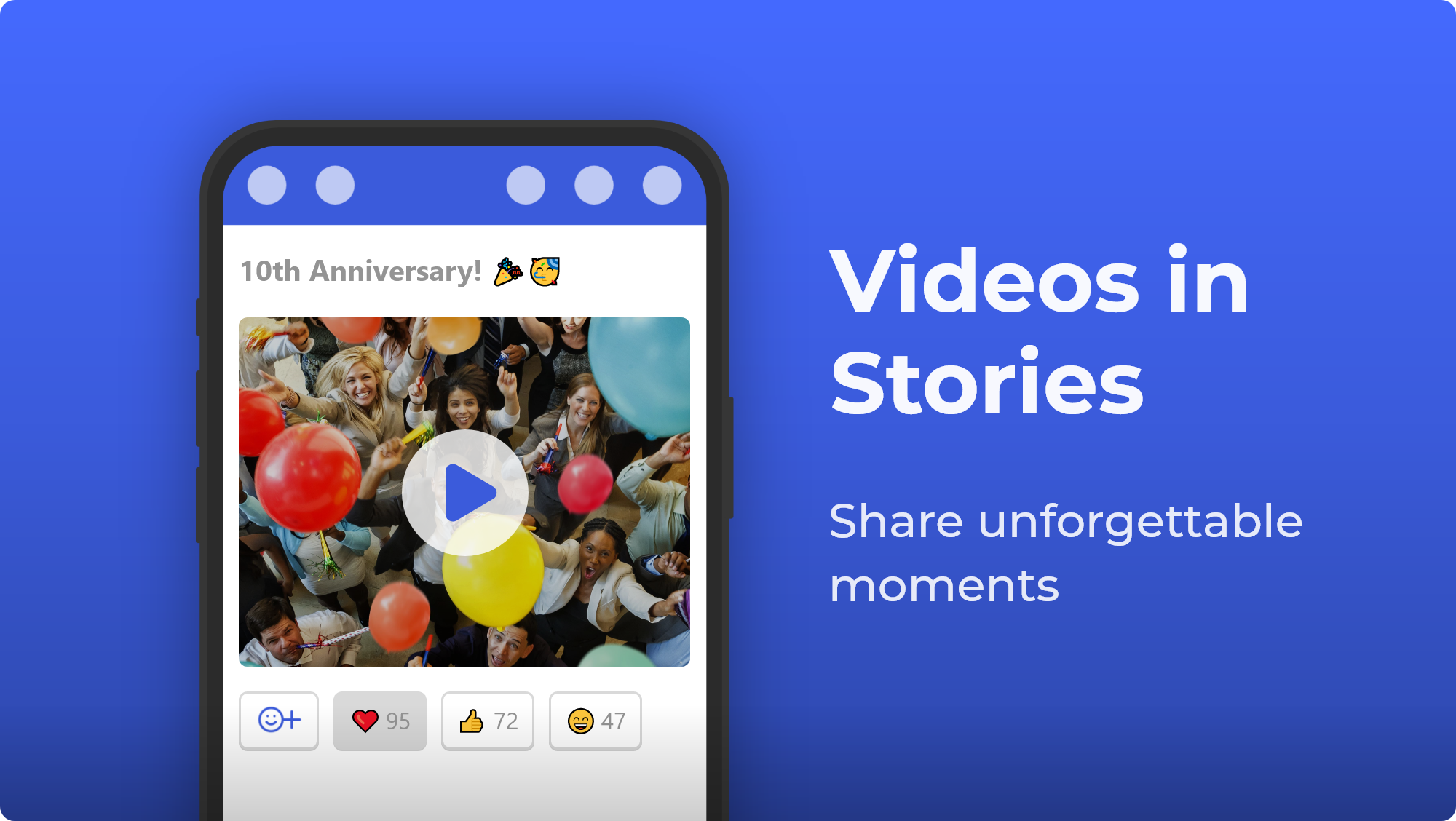Videos in Stories are available now!