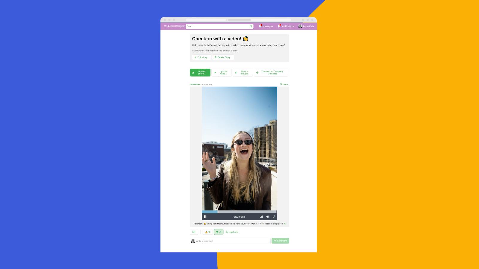 ahead soziales Intranet interne Kommunikation Mitarbeiter-App Videos in Geschichten