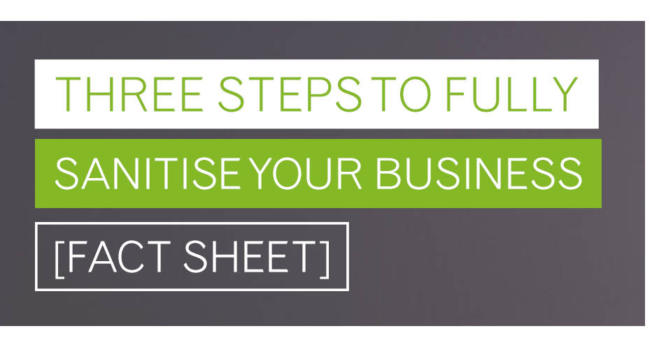 Three steps to fully sanitise your business