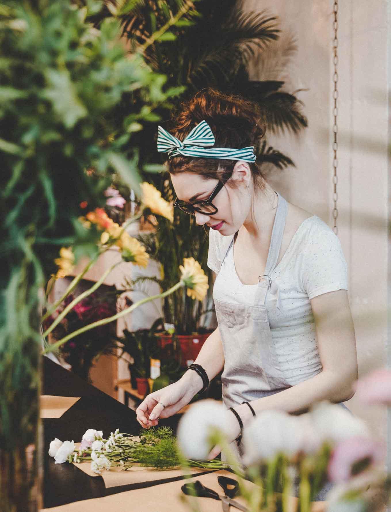 Fotografie Floristing für Branding Floristengeschäft Bern