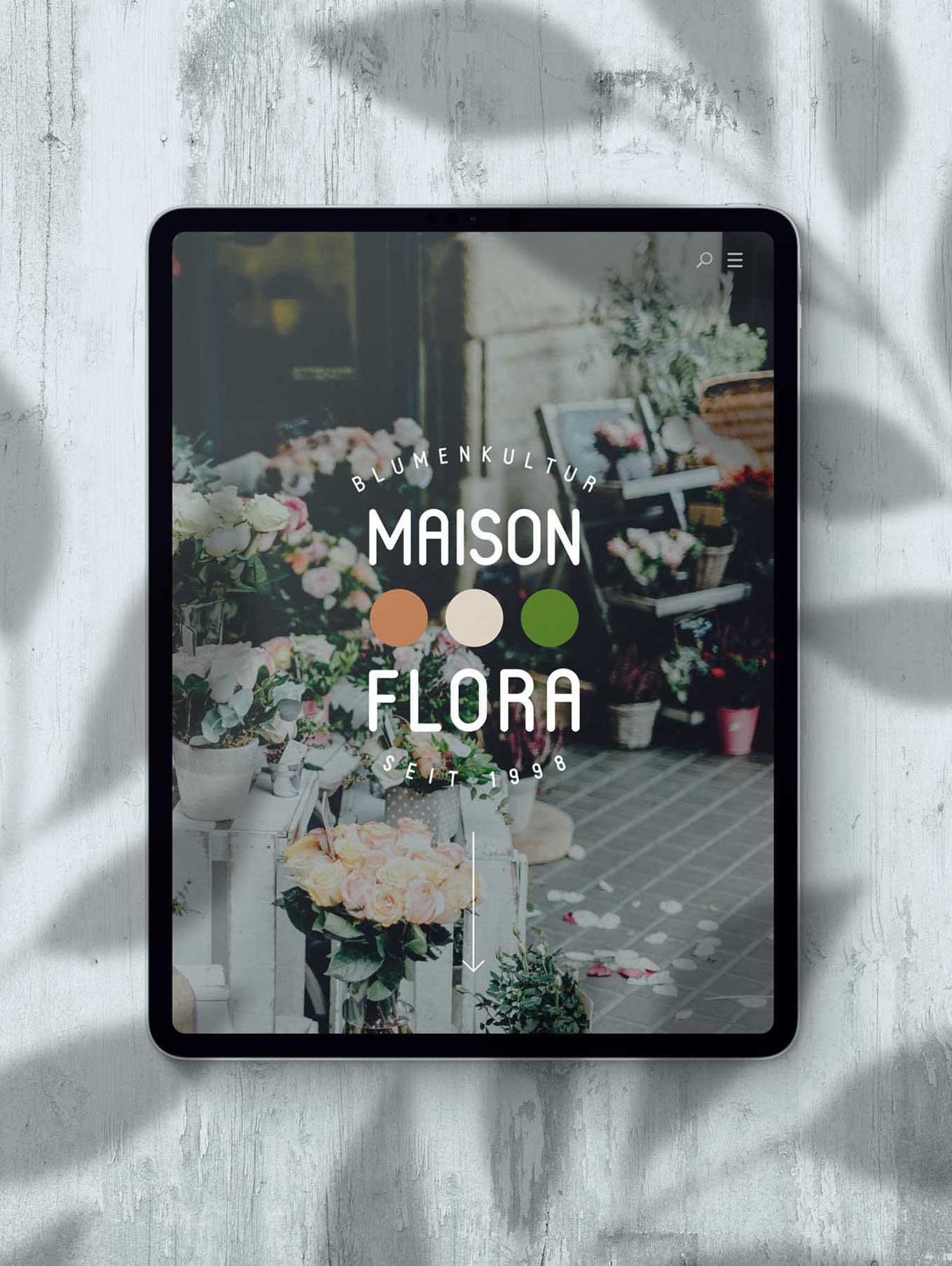 Web design florist in Bern
