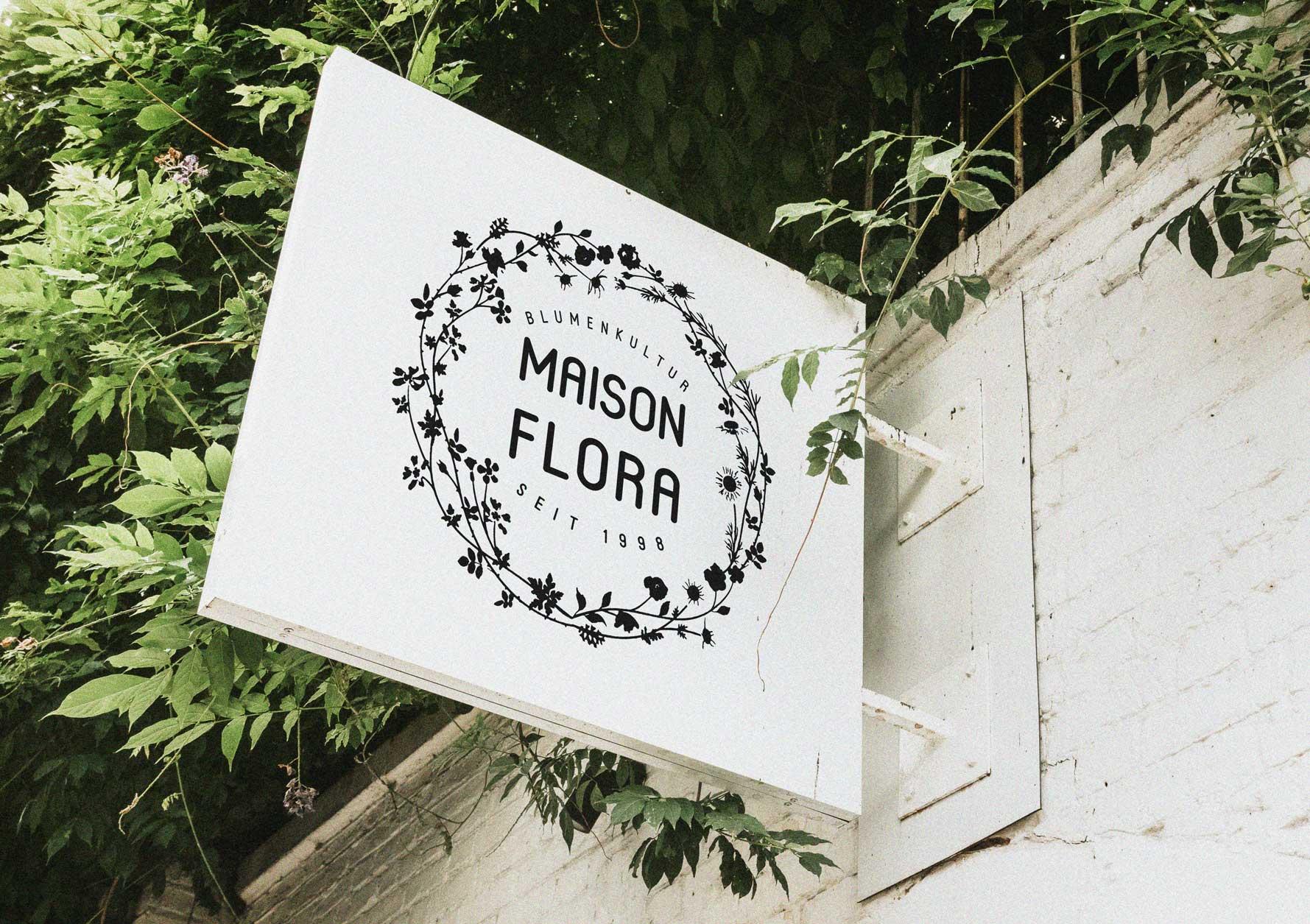 Design of signage for Swiss KMU florist shop in Bern