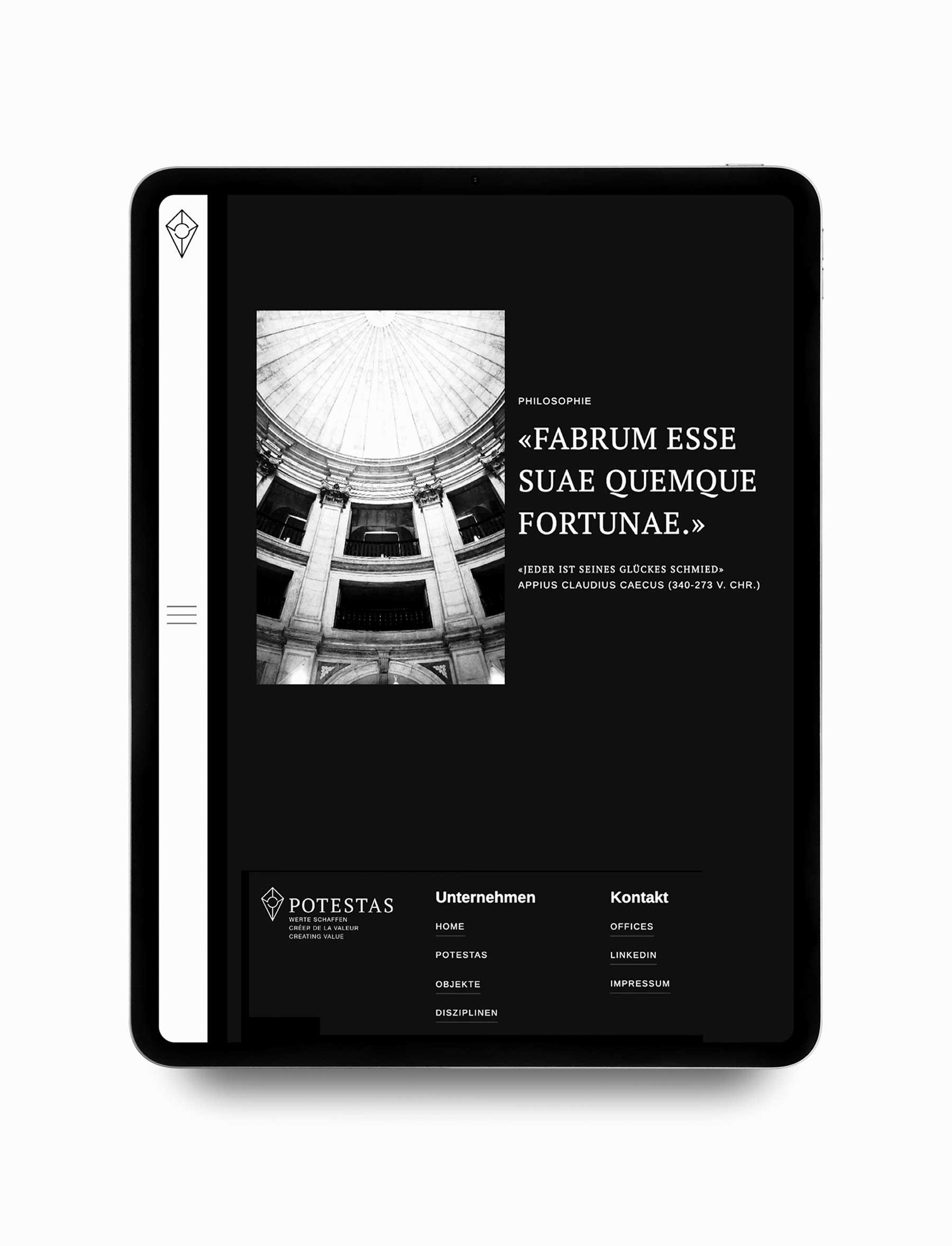 Webseite Design Landing Page Immobilien Firma Schweiz