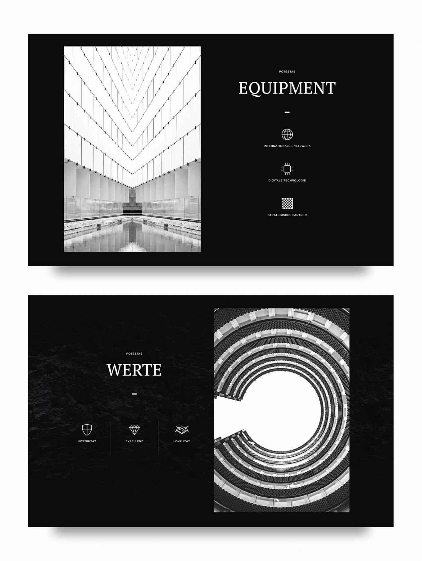 Webdesign Immobilien Firma Schweiz Portrait und About Seite