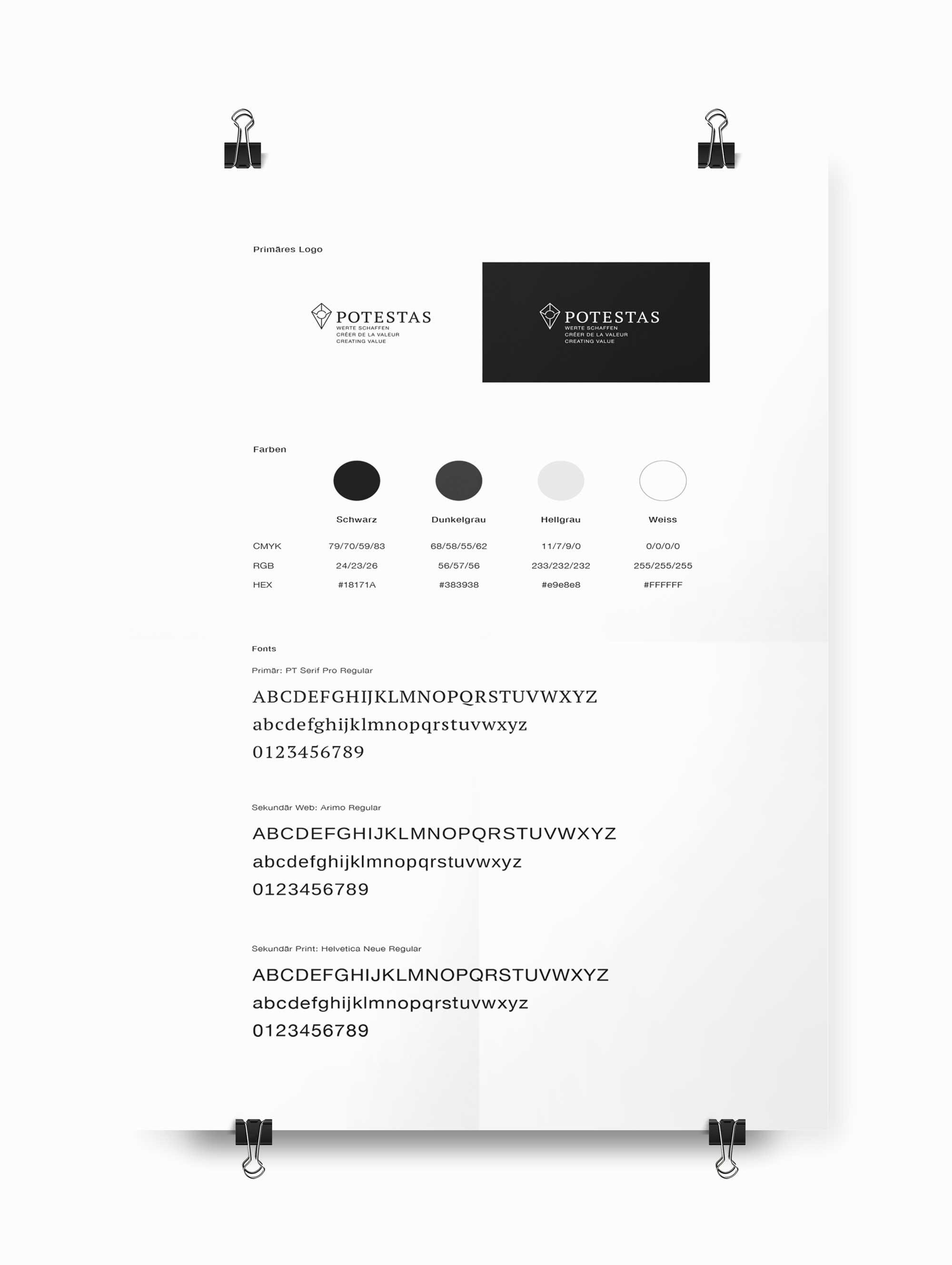 Design Guide CI/CD Immobilienfirma Schweiz