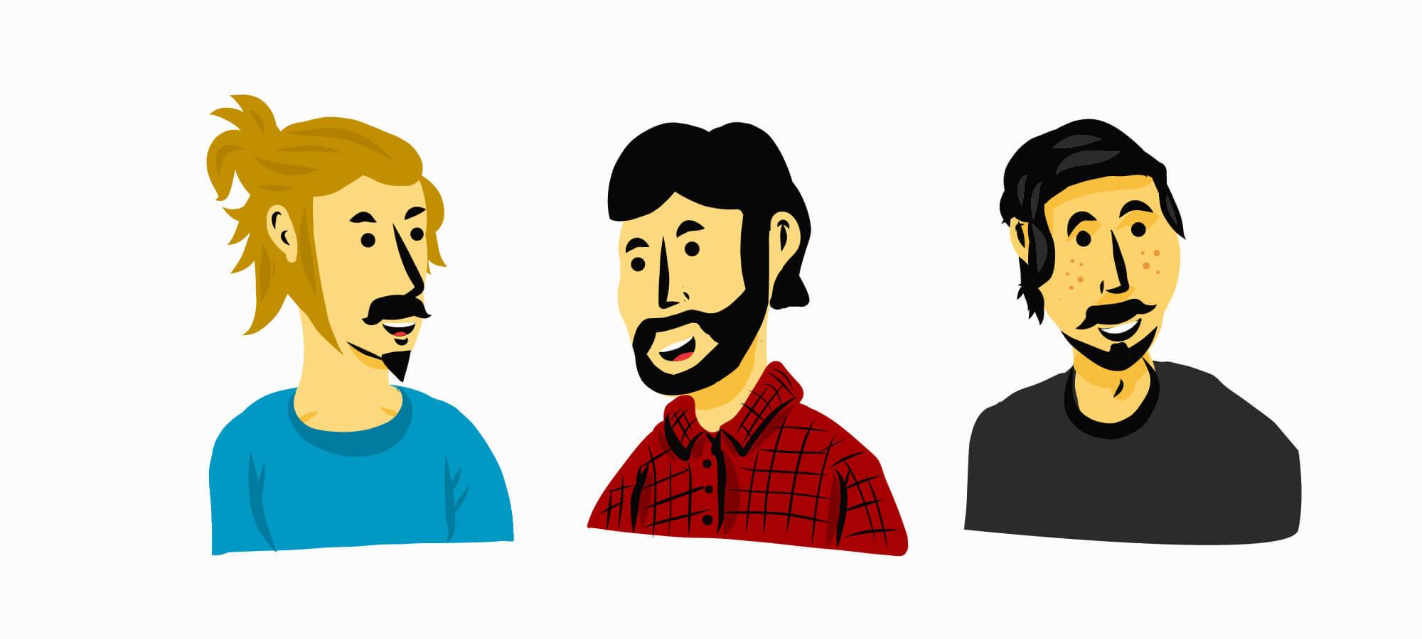 Illustrationen Mitarbeiter Schweizer IT Unternehmen