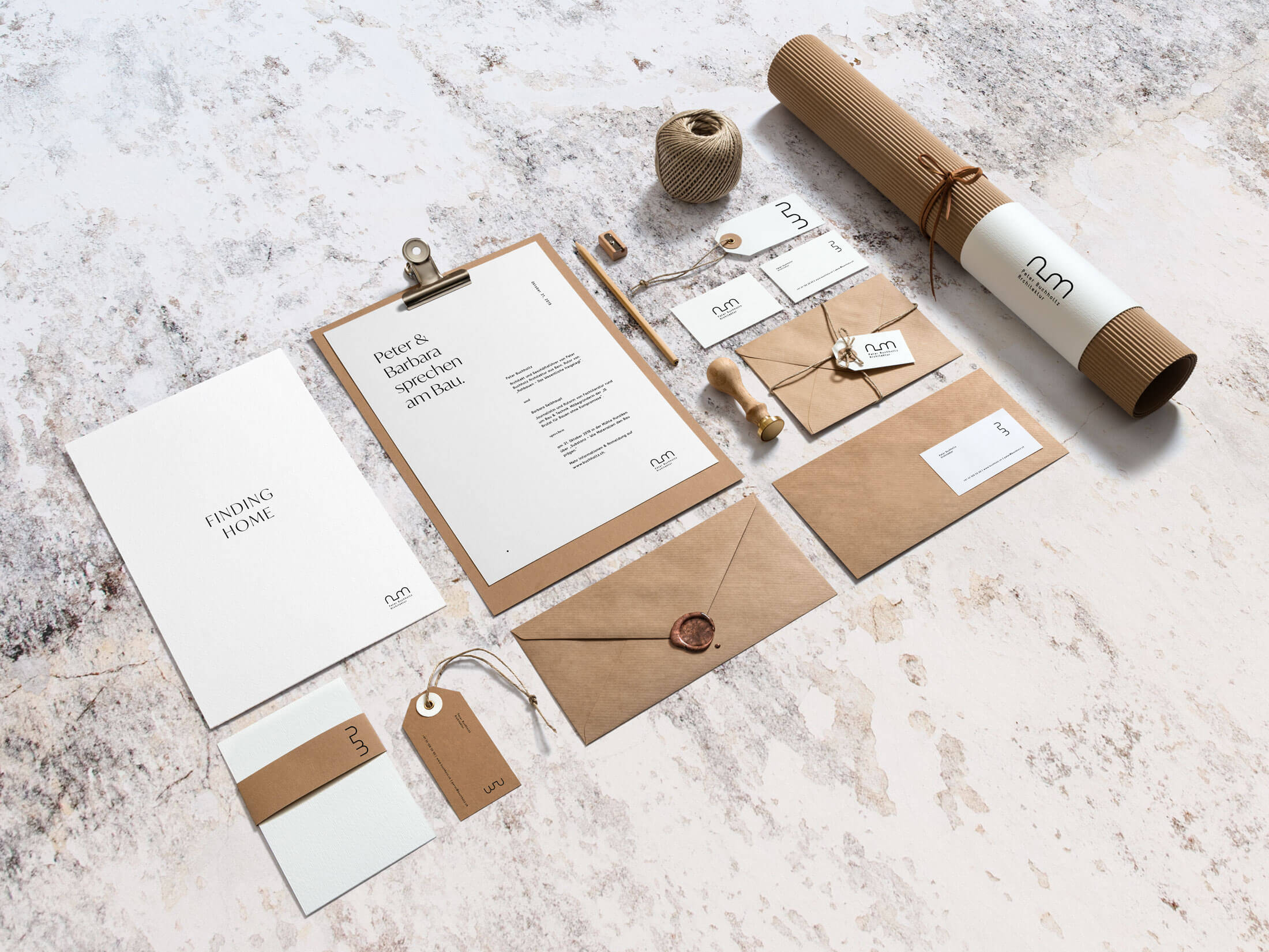 Branding and design of print for Swiss architect in Bern