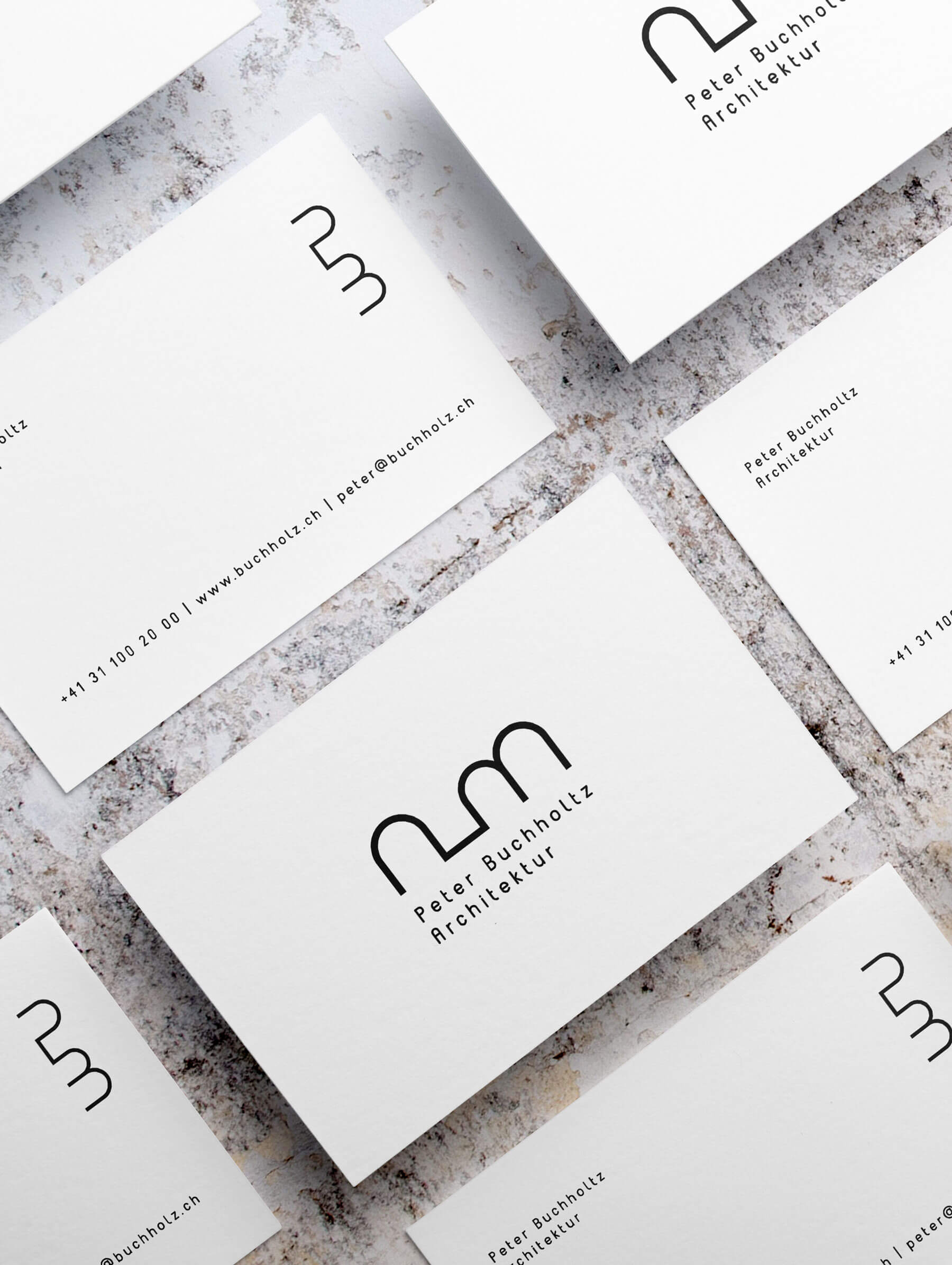 Business card design for Swiss architect in Bern