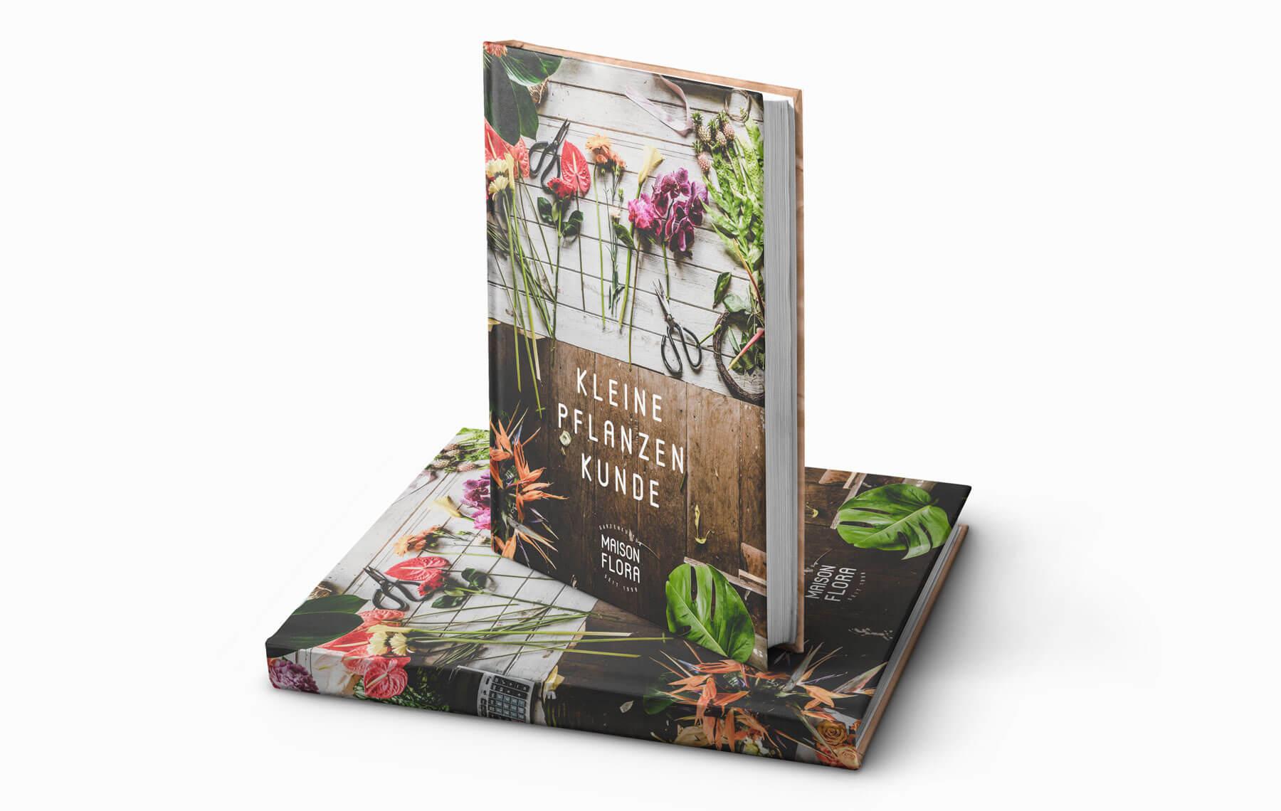 Print Design für Buch Schweizer KMU Florist